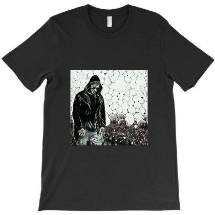 Rockstar With Hood T-shirt Designed By Ajayyadav