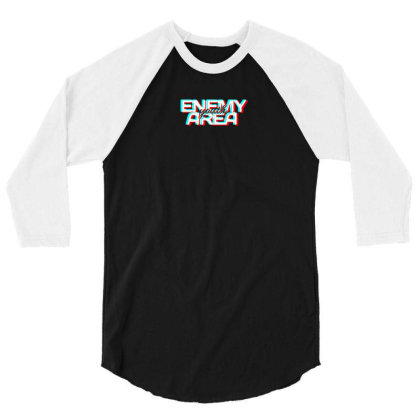Enemy Area Youth Logo 3/4 Sleeve Shirt Designed By Aaryaa079