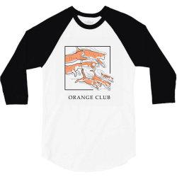 Orange Club 3/4 Sleeve Shirt | Artistshot