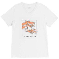 Orange Club V-Neck Tee | Artistshot