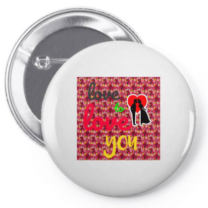 Love Tee Pin-back Button Designed By Suju