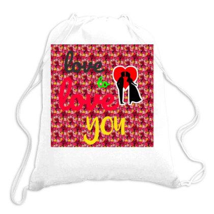 Love Tee Drawstring Bags Designed By Suju