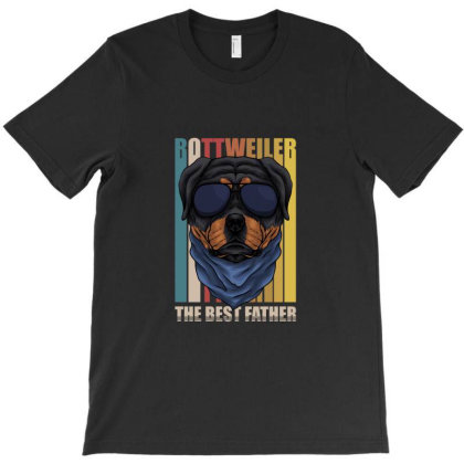 Rottweiler Dad T-shirt Designed By Tiococacola
