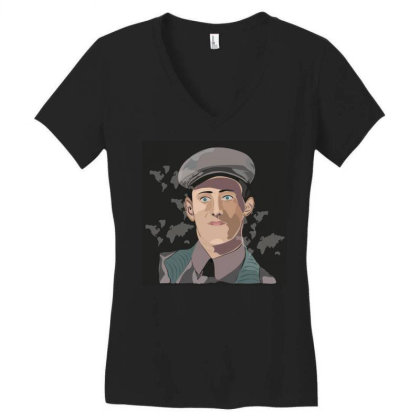 Army Man Women's V-neck T-shirt Designed By Su_rreal