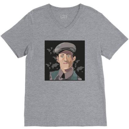 Army Man V-neck Tee Designed By Su_rreal