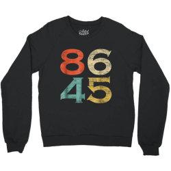 classic vintage style 86 45 anti trump Crewneck Sweatshirt   Artistshot
