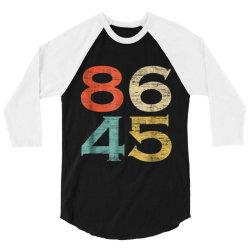 classic vintage style 86 45 anti trump 3/4 Sleeve Shirt   Artistshot