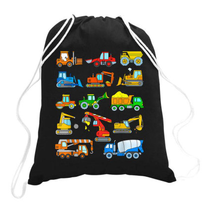 Construction Excavator Shirt For Boys Girls Men And Women Drawstring Bags Designed By Conco335@gmail.com