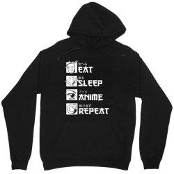 eat sleep anime repeat shirt, funny japanese manga gift Unisex Hoodie   Artistshot