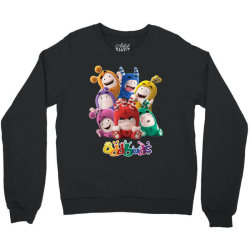 oddbods all 7 characters in cute funny poses Crewneck Sweatshirt | Artistshot