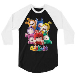 oddbods all 7 characters in cute funny poses 3/4 Sleeve Shirt | Artistshot