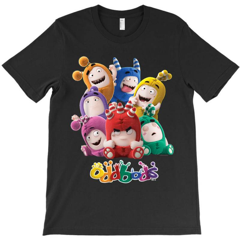 Oddbods All 7 Characters In Cute Funny Poses T-shirt | Artistshot