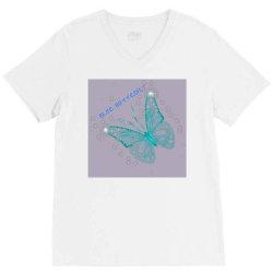 Blue butterfly V-Neck Tee   Artistshot