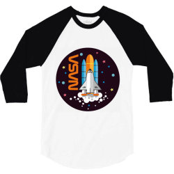 USA Space Agency Vintage Colors V03 3/4 Sleeve Shirt | Artistshot
