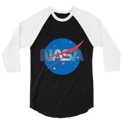 NASA Space Universe Logo 3/4 Sleeve Shirt | Artistshot
