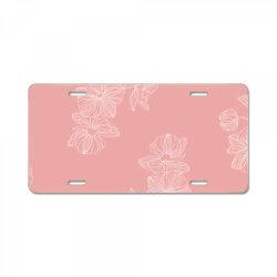 pink Floral License Plate | Artistshot
