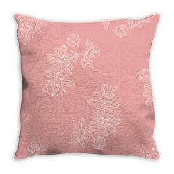pink Floral Throw Pillow | Artistshot