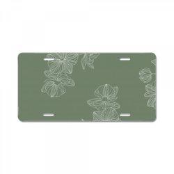 olive green floral License Plate | Artistshot
