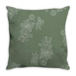 olive green floral Throw Pillow | Artistshot