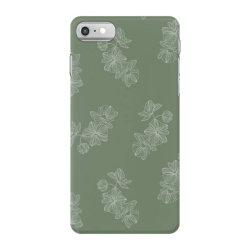 olive green floral iPhone 7 Case | Artistshot