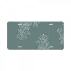 mint green floral License Plate | Artistshot