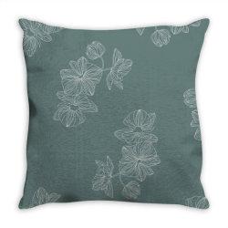 mint green floral Throw Pillow | Artistshot