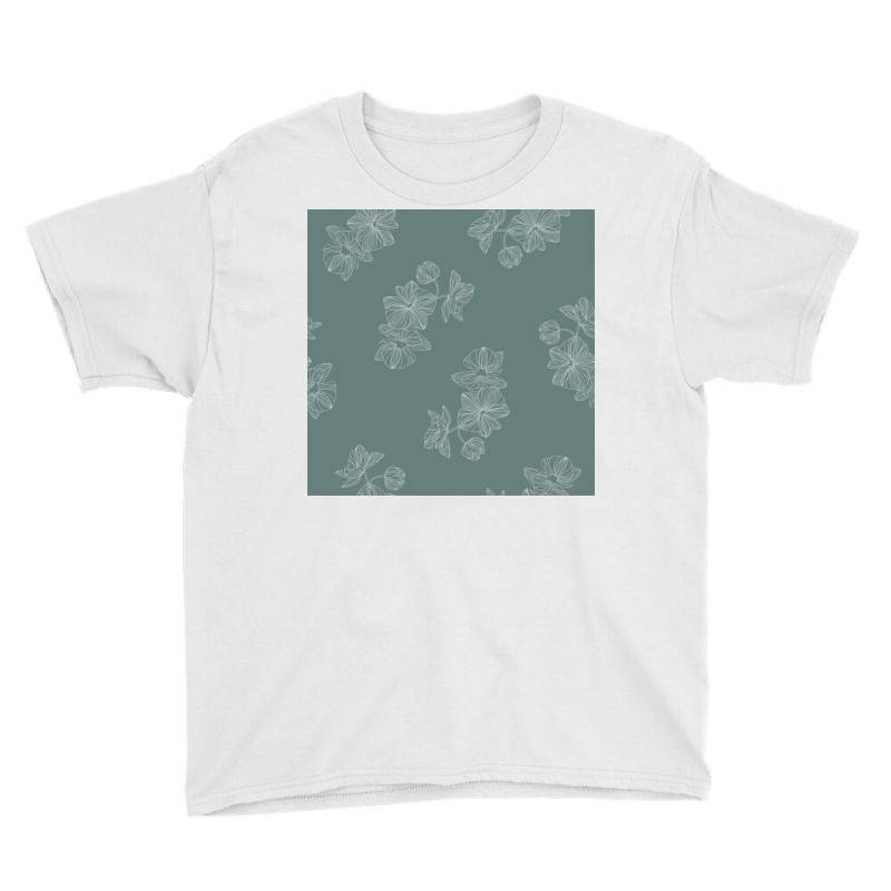 Mint Green Floral Youth Tee | Artistshot