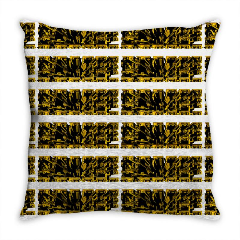 Cartel Gold Throw Pillow   Artistshot