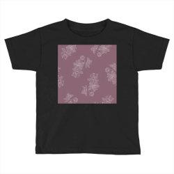 Mauve Floral Toddler T-shirt   Artistshot
