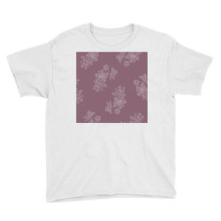 Mauve Floral Youth Tee   Artistshot