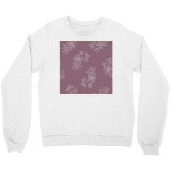 Mauve Floral Crewneck Sweatshirt | Artistshot