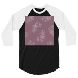 Mauve Floral 3/4 Sleeve Shirt | Artistshot
