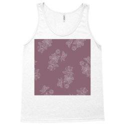 Mauve Floral Tank Top | Artistshot