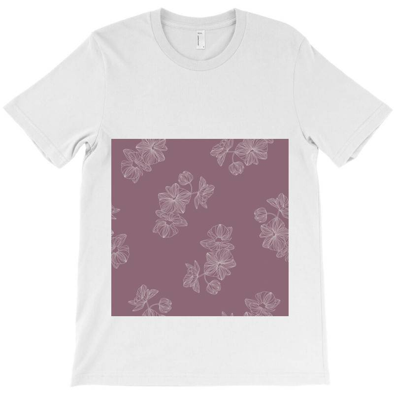 Mauve Floral T-shirt | Artistshot