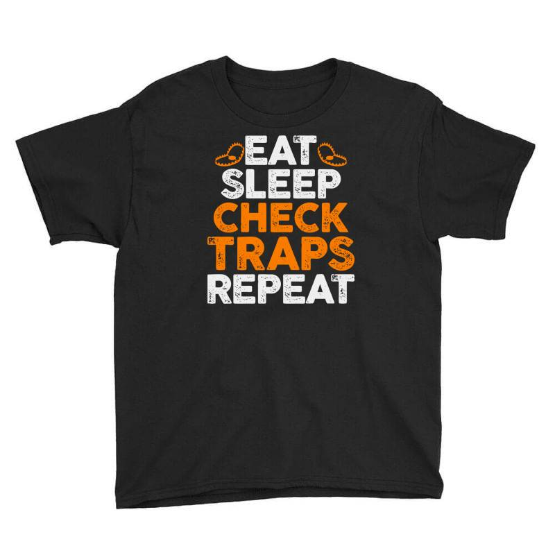 Eat Sleep Check Traps Repeat Youth Tee   Artistshot