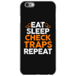 Eat sleep check traps repeat iPhone 6/6s Case | Artistshot