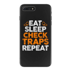 Eat sleep check traps repeat iPhone 7 Plus Case | Artistshot