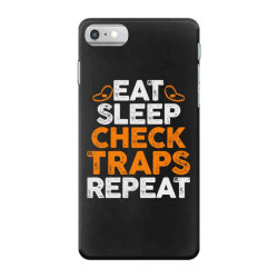 Eat sleep check traps repeat iPhone 7 Case | Artistshot