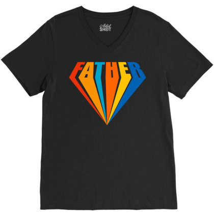 Father V-neck Tee Designed By Tiococacola