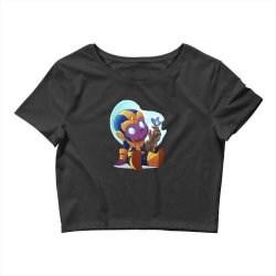 cute baby Thanos (Low Poly Abstract) ZoomOut Effect Crop Top | Artistshot