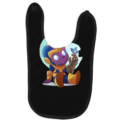 cute baby Thanos (Low Poly Abstract) ZoomOut Effect Baby Bibs | Artistshot
