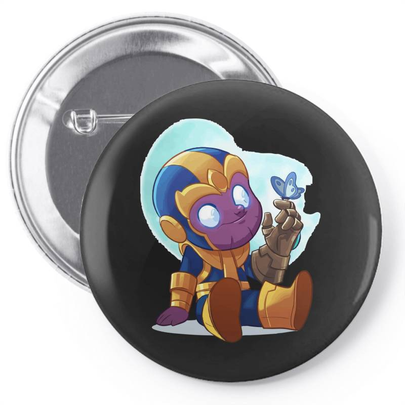 Cute Baby Thanos (low Poly Abstract) Zoomout Effect Pin-back Button | Artistshot