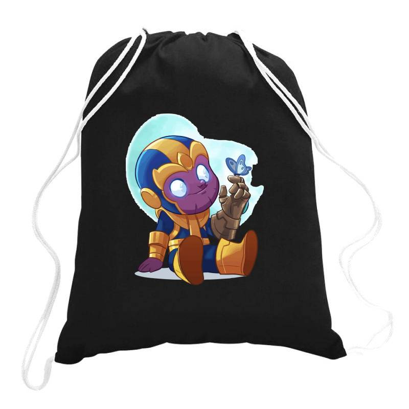 Cute Baby Thanos (low Poly Abstract) Zoomout Effect Drawstring Bags | Artistshot