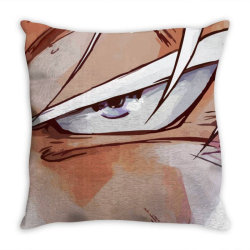 Dragon ball Z (DBZ) GOKU (Low Poly Abstract) FanArt (ZoomOut Effect) Throw Pillow | Artistshot