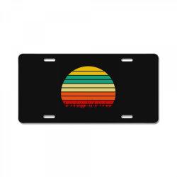 Retro yellow orange sunset License Plate | Artistshot