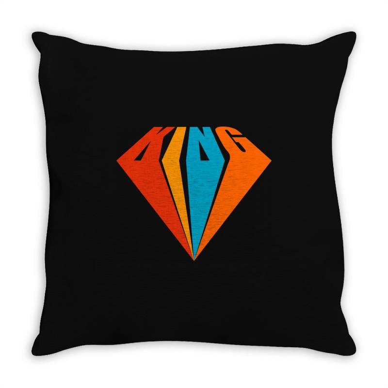 King Throw Pillow   Artistshot