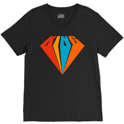 King V-neck Tee Designed By Tiococacola