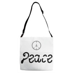 Peace Adjustable Strap Totes | Artistshot