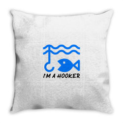 t shirt i am a hooker, Fisherman Tshirt Throw Pillow | Artistshot