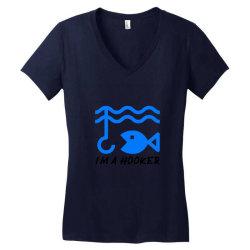 t shirt i am a hooker, Fisherman Tshirt Women's V-Neck T-Shirt | Artistshot